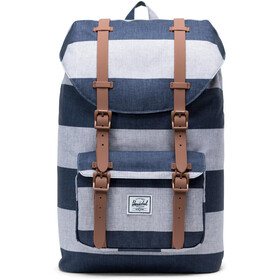 Herschel Little America Mid-Volume Backpack 17L, border stripe/saddle brown